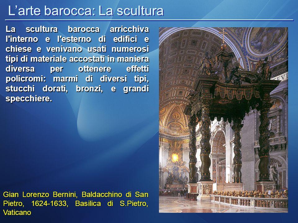 L'arte barocca: La scultura