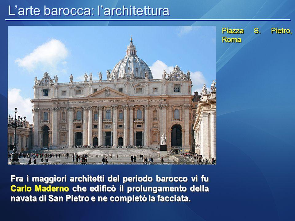 L'arte barocca: l'architettura