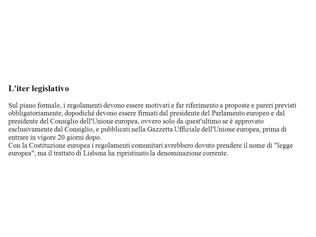 L iter legislativo