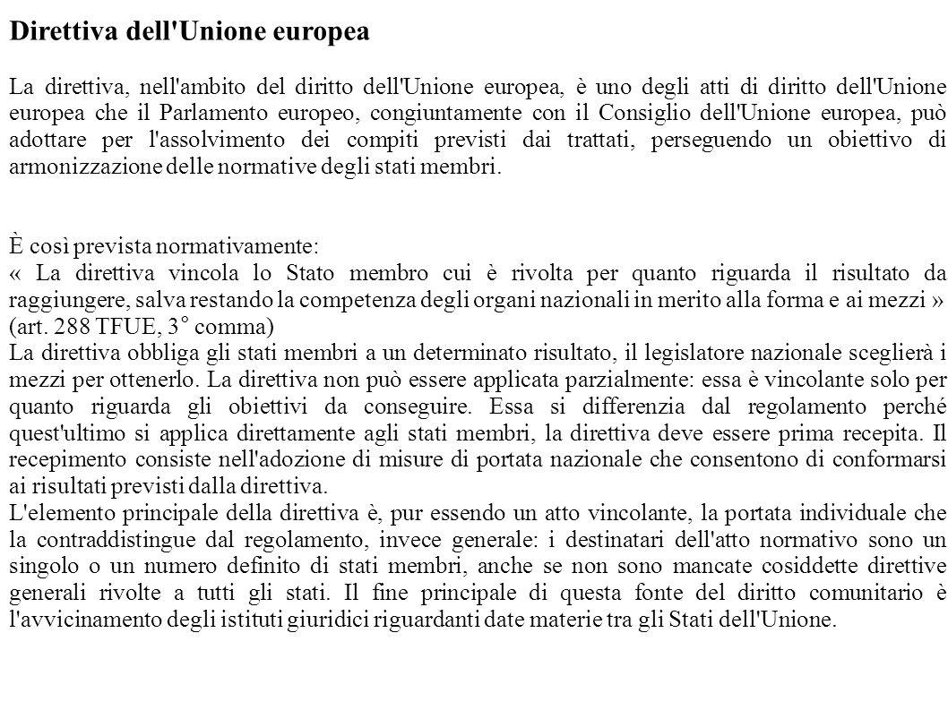 Direttiva dell Unione europea