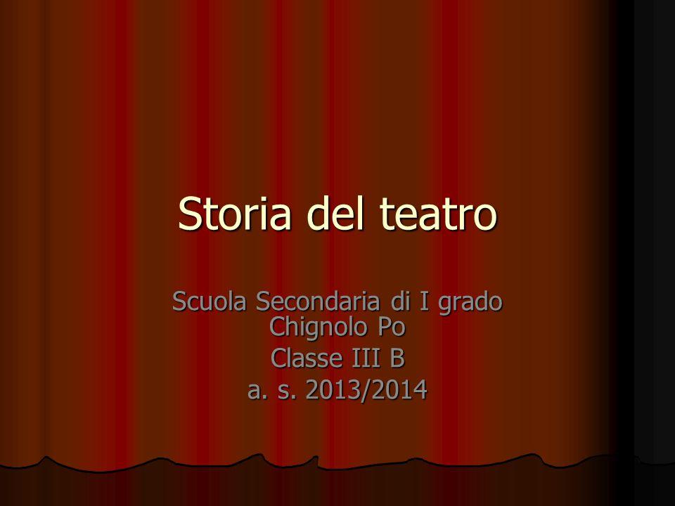 Scuola Secondaria di I grado Chignolo Po Classe III B a. s. 2013/2014