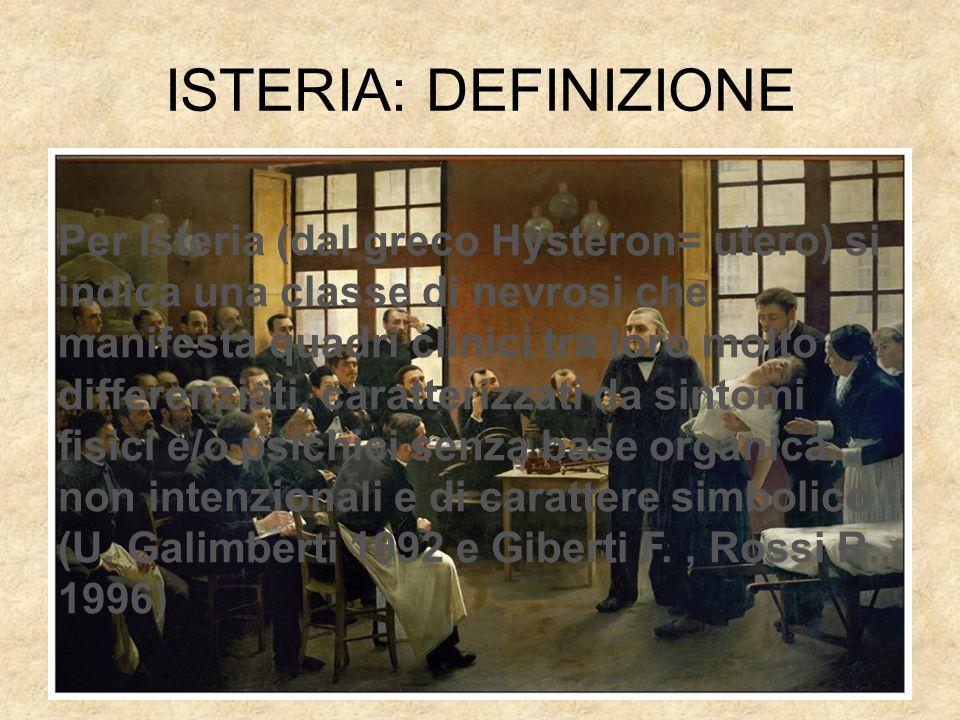 ISTERIA: DEFINIZIONE