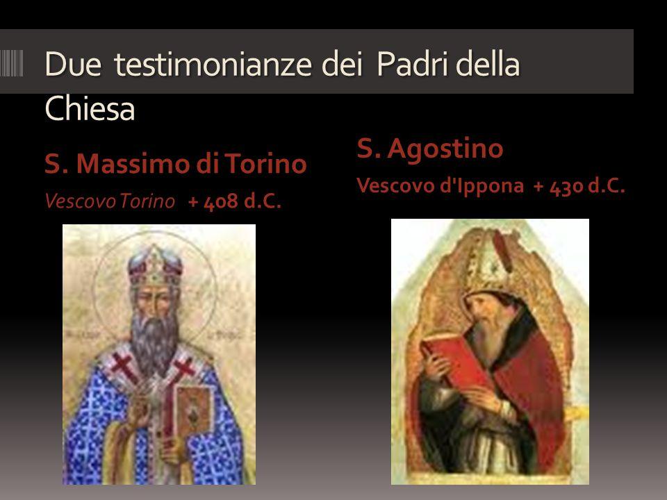 Due testimonianze dei Padri della Chiesa