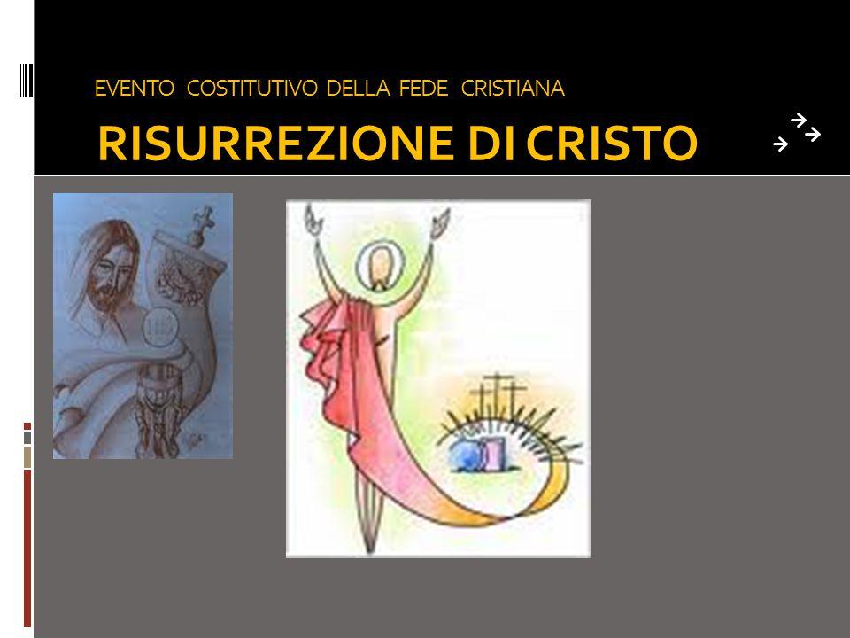 EVENTO COSTITUTIVO DELLA FEDE CRISTIANA