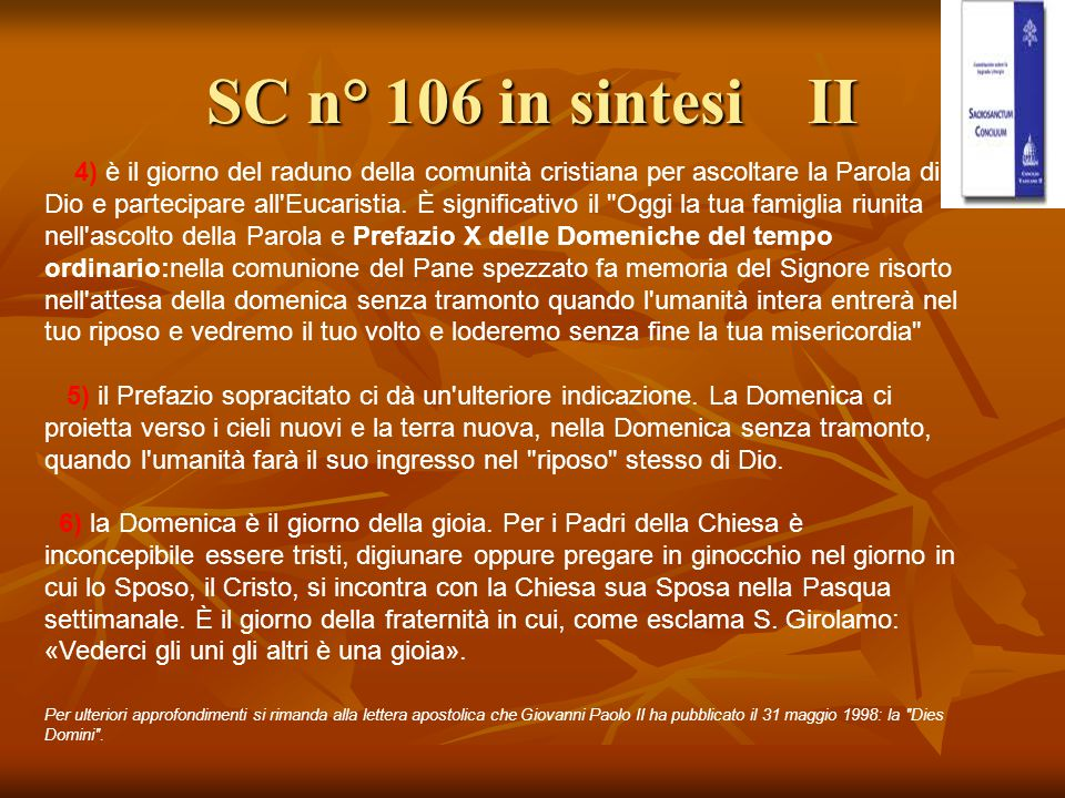 SC n° 106 in sintesi II