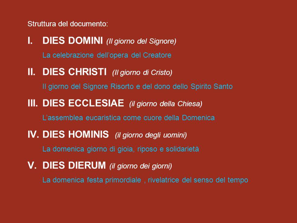 DIES DOMINI (Il giorno del Signore)