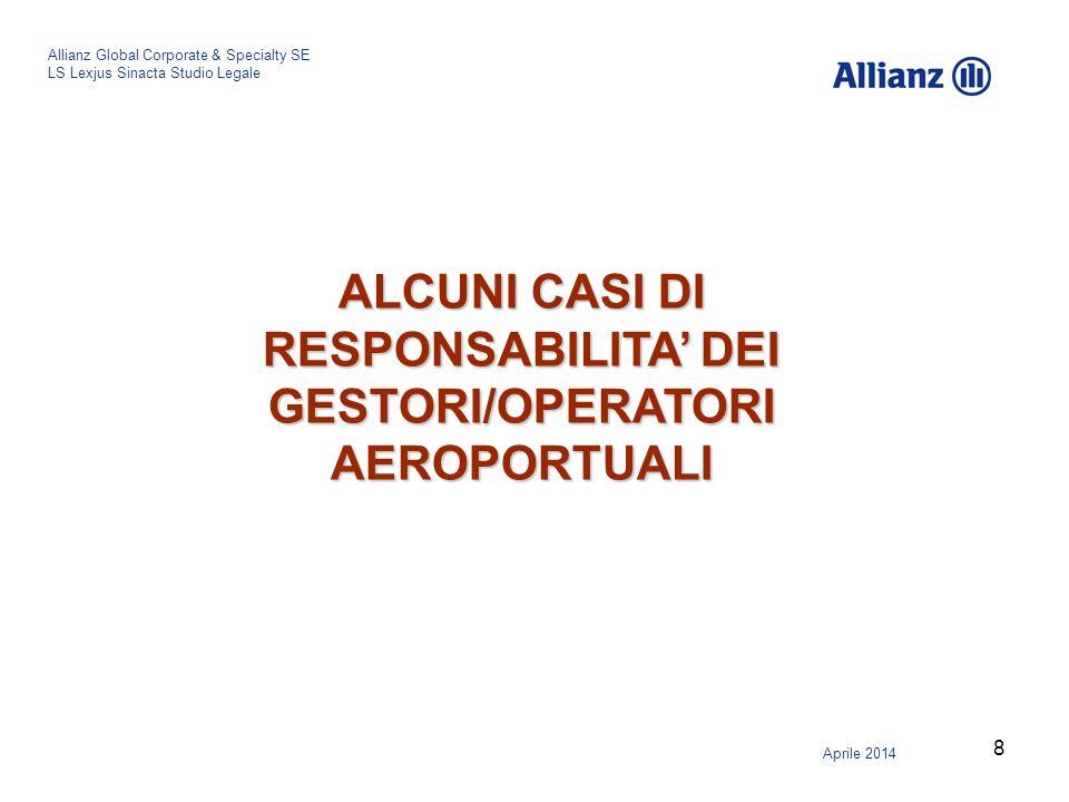 ALCUNI CASI DI RESPONSABILITA' DEI GESTORI/OPERATORI AEROPORTUALI