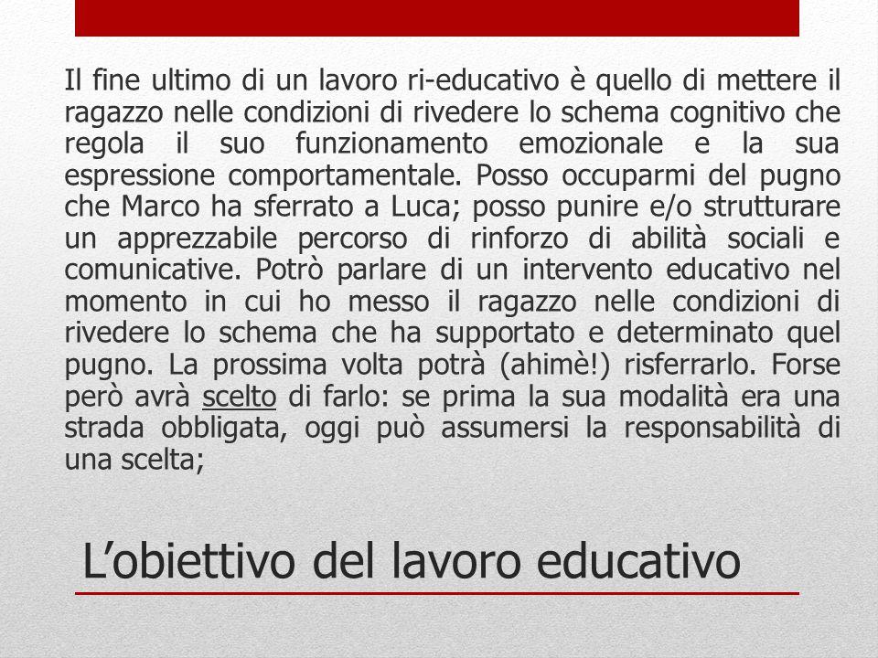 L'obiettivo del lavoro educativo