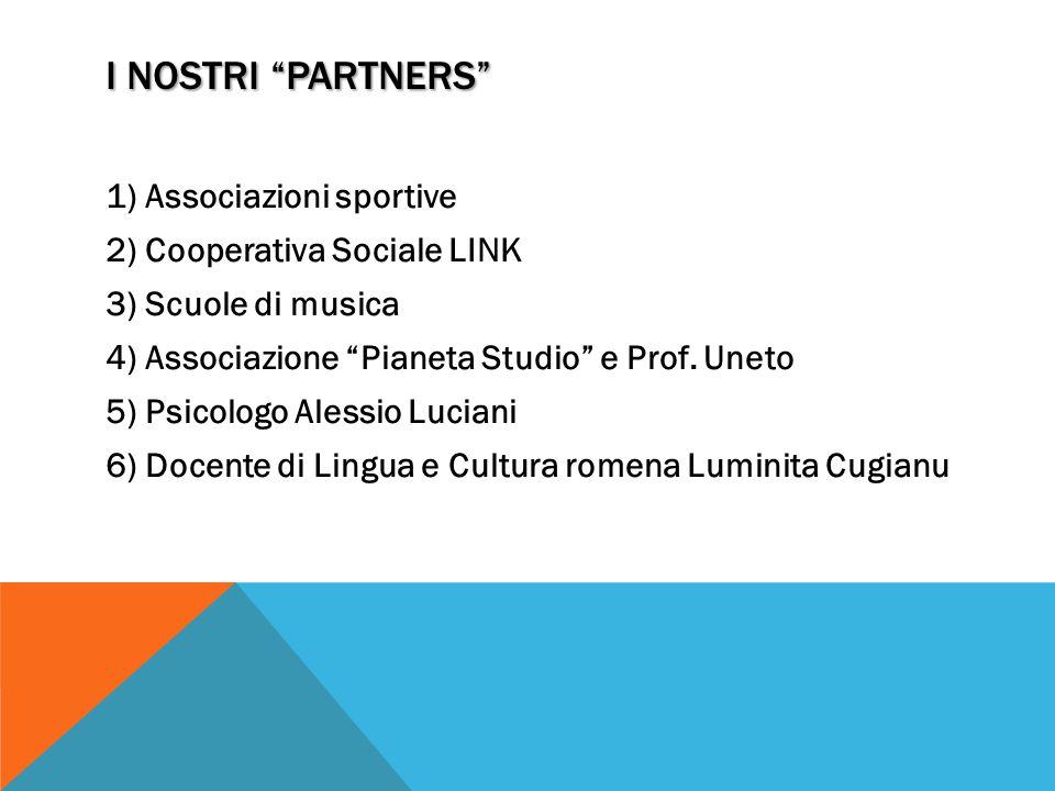 I NOSTRI PARTNERS Associazioni sportive Cooperativa Sociale LINK