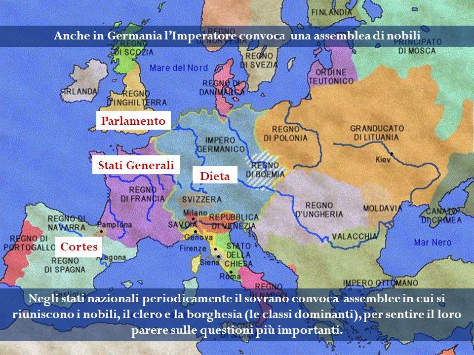 Anche in Germania l'Imperatore convoca una assemblea di nobili