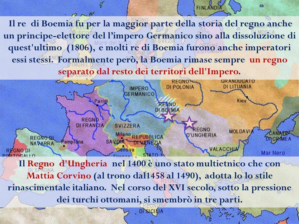 Il re di Boemia fu per la maggior parte della storia del regno anche un principe-elettore del l'impero Germanico sino alla dissoluzione di quest ultimo (1806), e molti re di Boemia furono anche imperatori essi stessi. Formalmente però, la Boemia rimase sempre un regno separato dal resto dei territori dell Impero.
