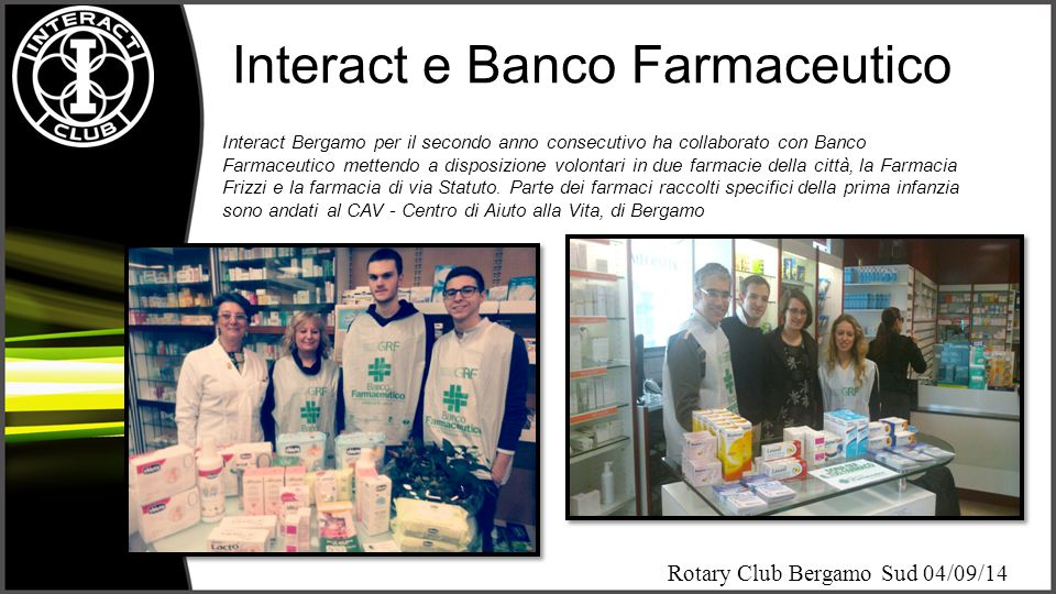 Interact e Banco Farmaceutico