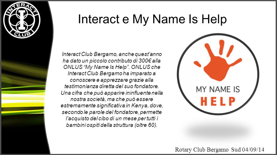 Interact e My Name Is Help