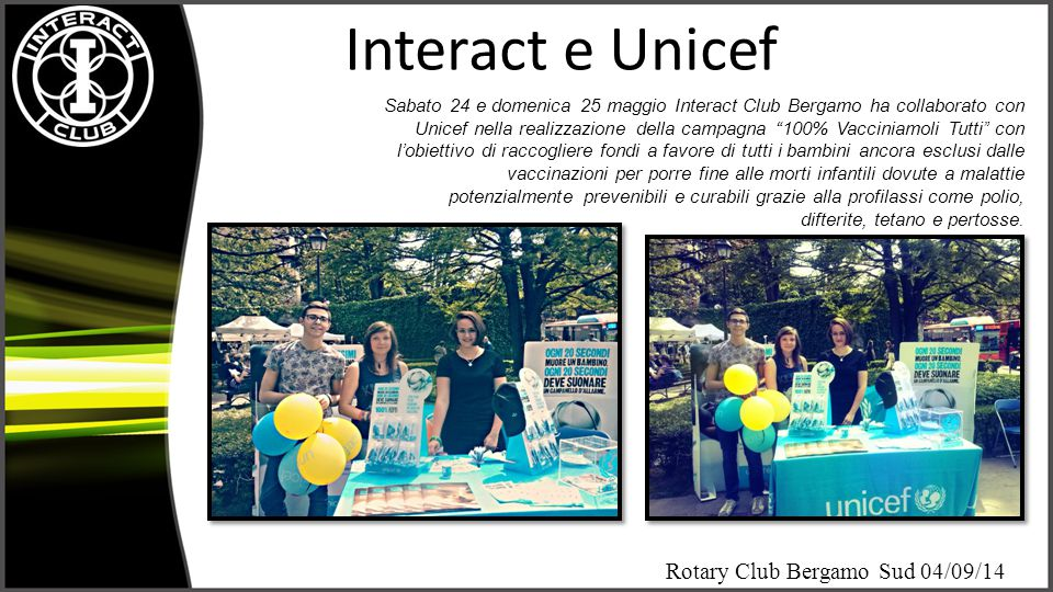 Interact e Unicef