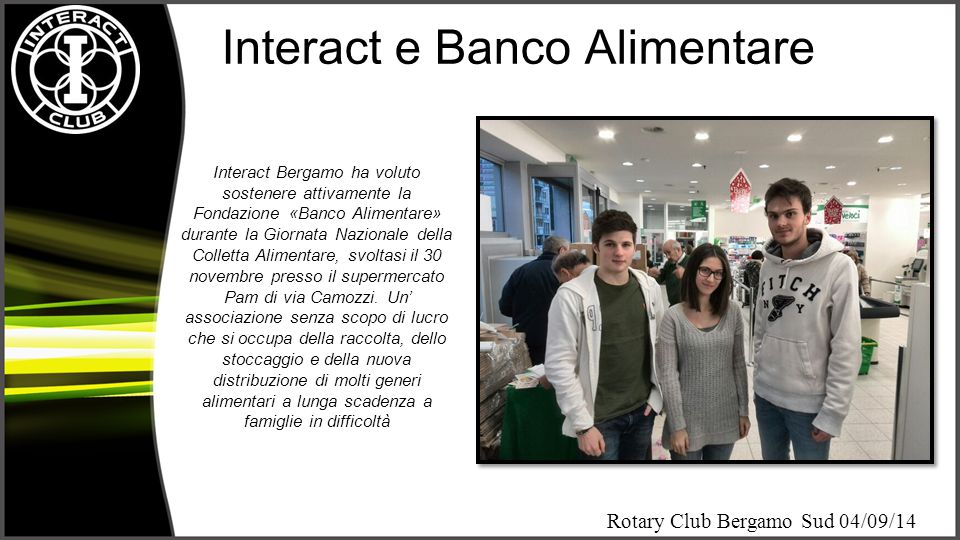 Interact e Banco Alimentare