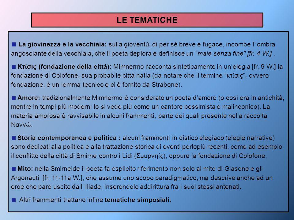 LE TEMATICHE