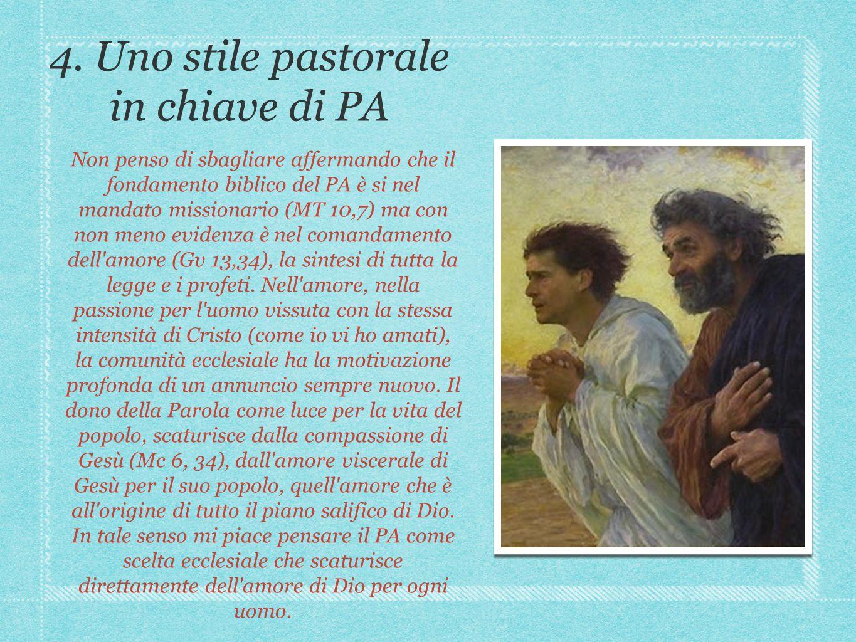 4. Uno stile pastorale in chiave di PA