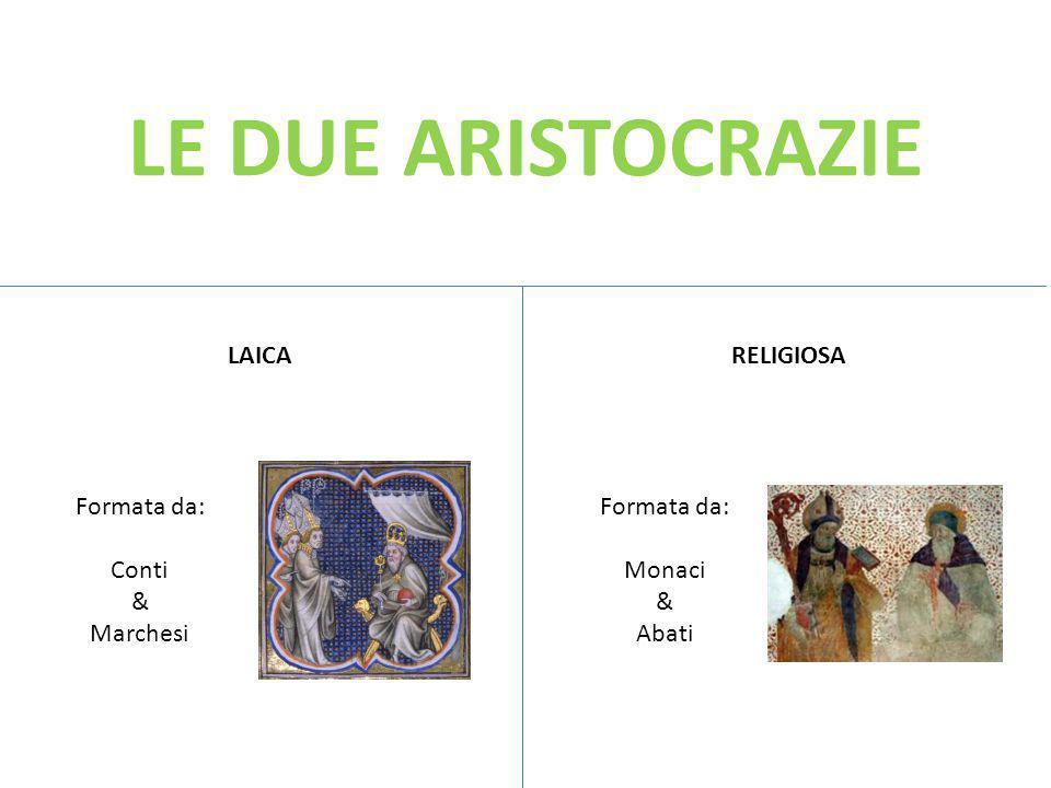 LE DUE ARISTOCRAZIE LAICA RELIGIOSA Formata da: Conti & Marchesi