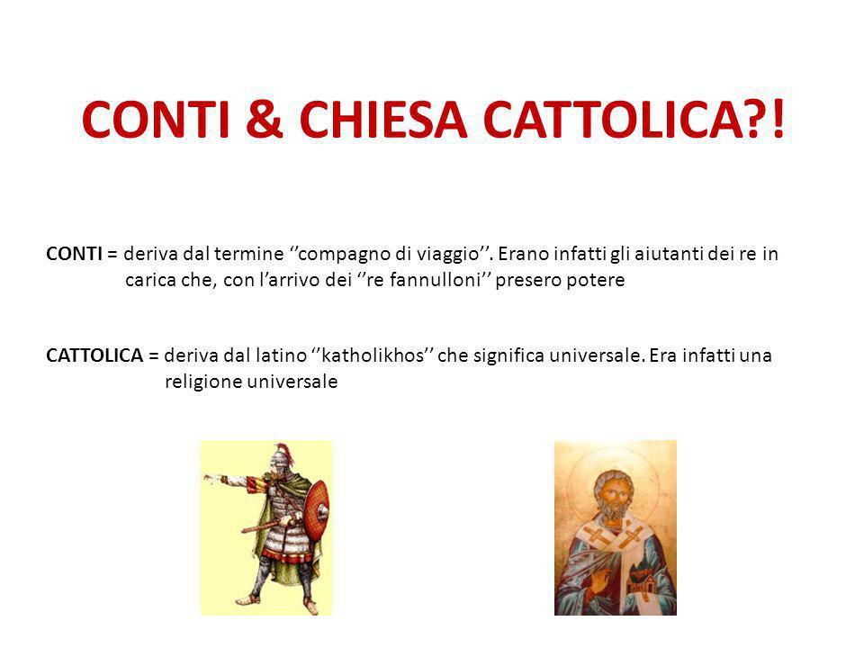 CONTI & CHIESA CATTOLICA !