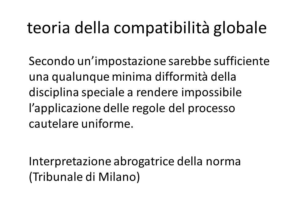 teoria della compatibilità globale