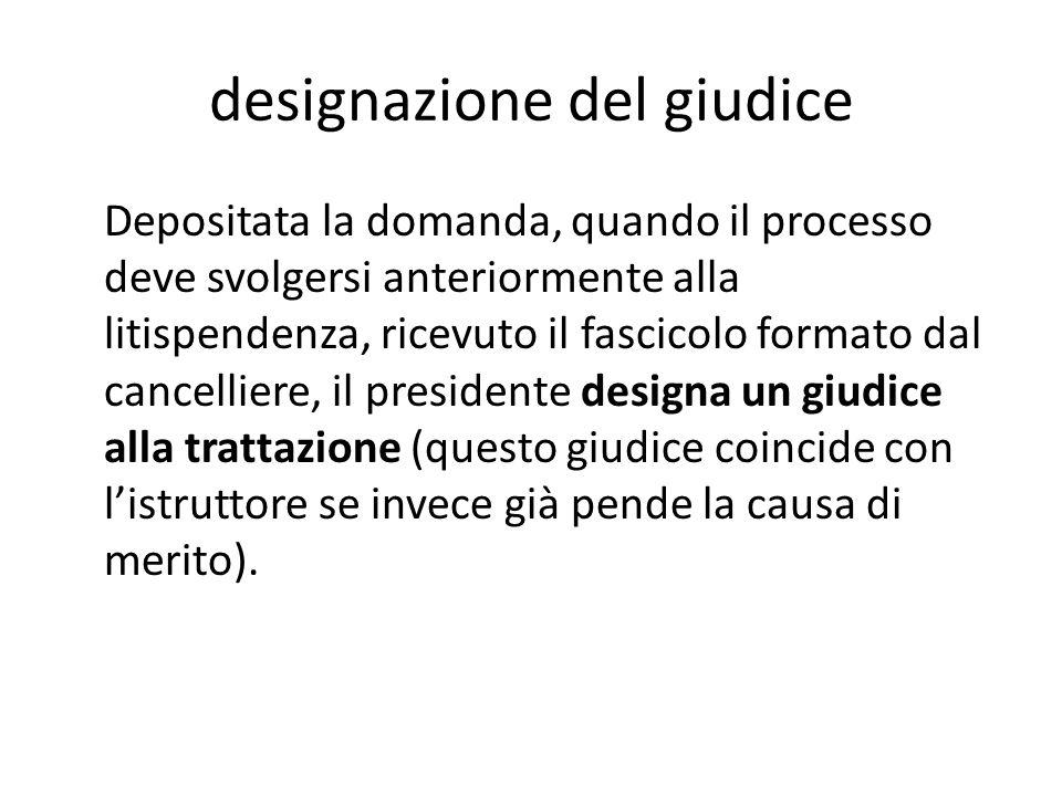 designazione del giudice