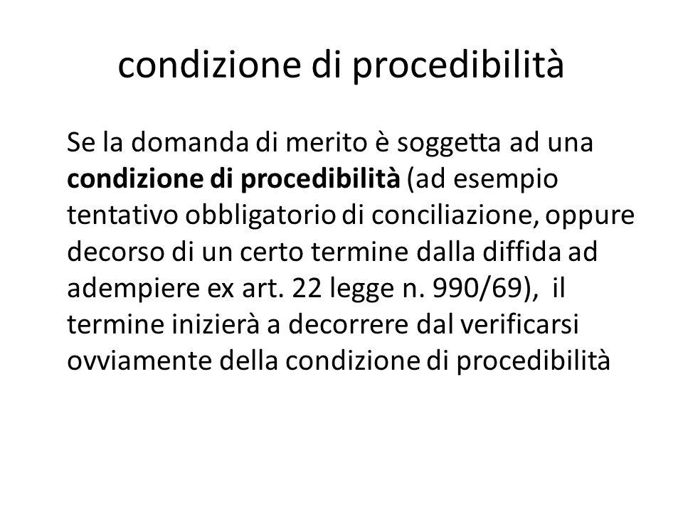 condizione di procedibilità