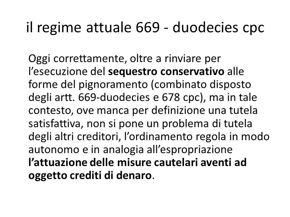 il regime attuale 669 - duodecies cpc