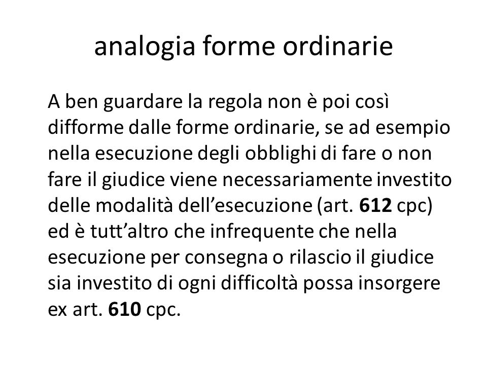 analogia forme ordinarie