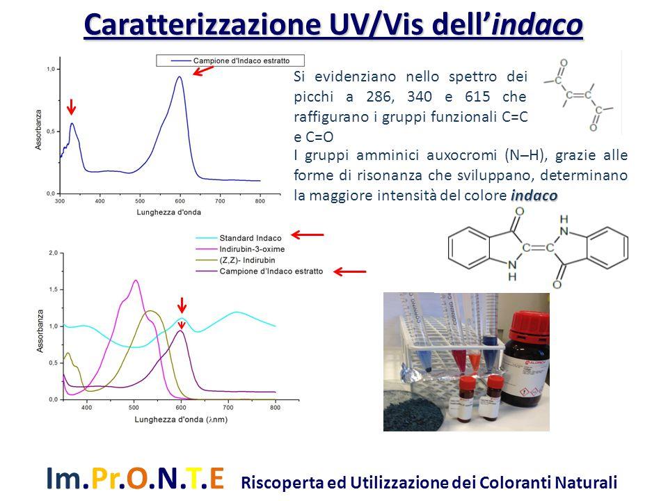 Caratterizzazione UV/Vis dell'indaco