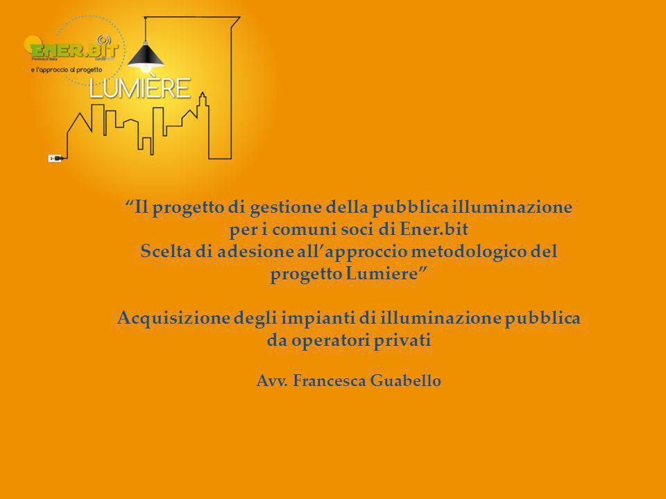 Scelta di adesione all'approccio metodologico del progetto Lumiere