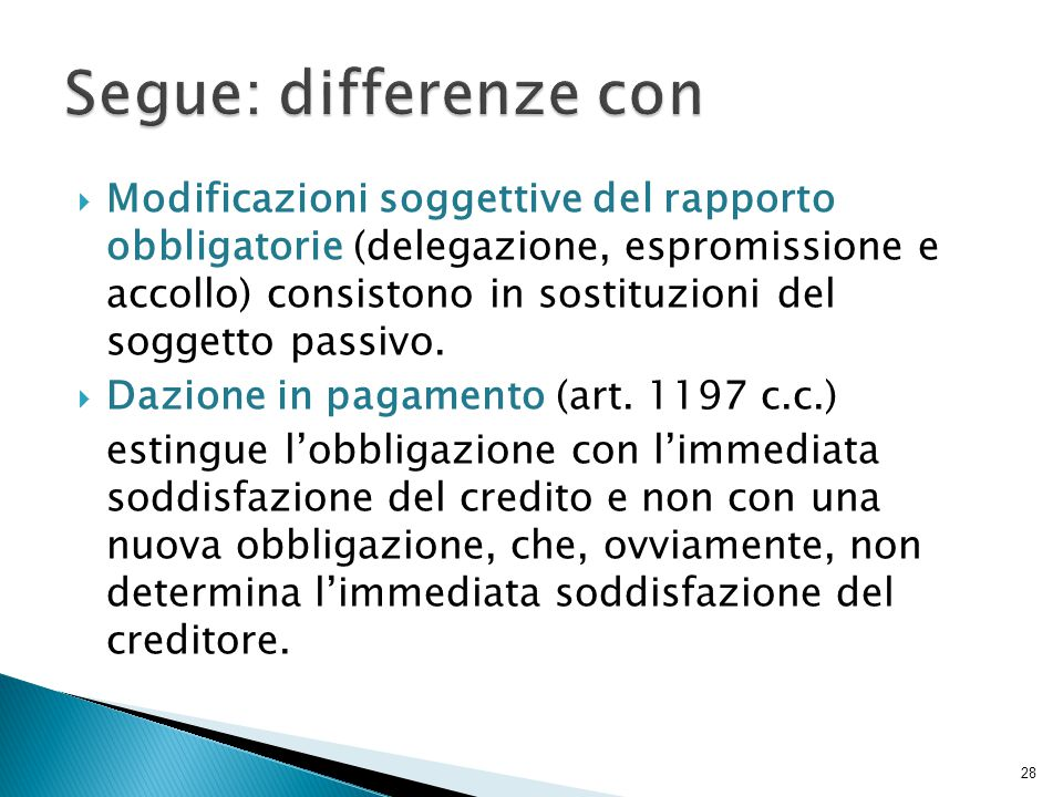 Segue: differenze con
