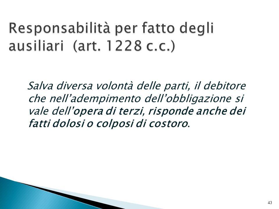 Responsabilità per fatto degli ausiliari (art. 1228 c.c.)