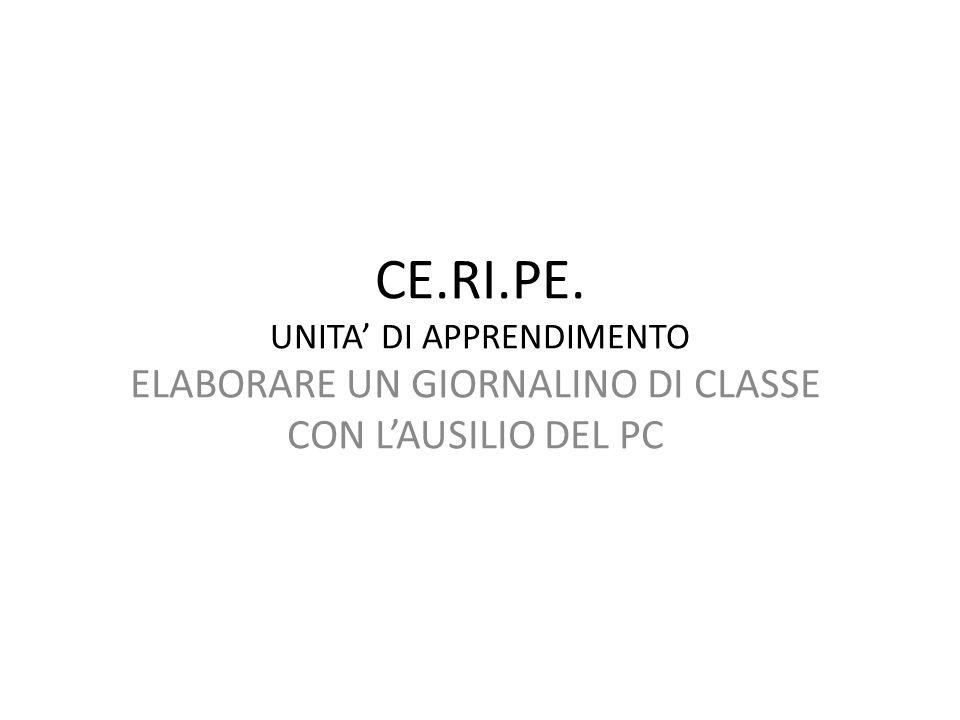 CE.RI.PE. UNITA' DI APPRENDIMENTO