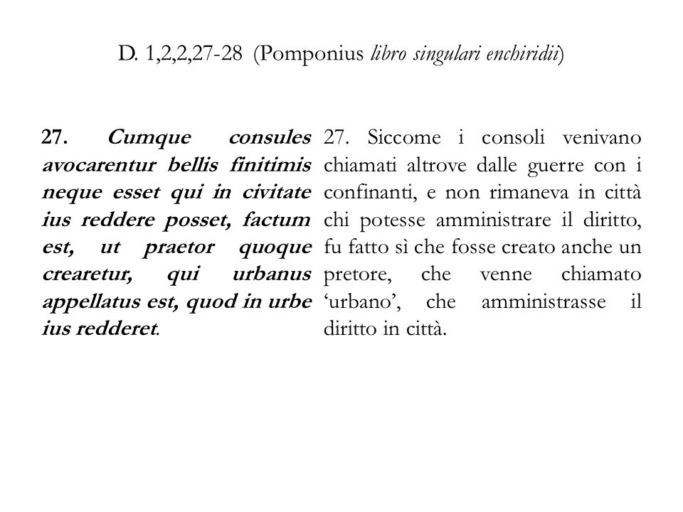 D. 1,2,2,27-28 (Pomponius libro singulari enchiridii)