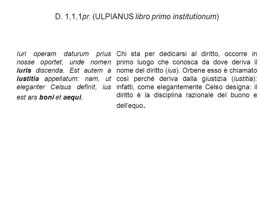 D. 1,1,1pr. (ULPIANUS libro primo institutionum)