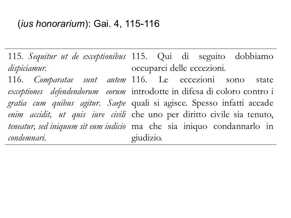 (ius honorarium): Gai. 4, 115-116