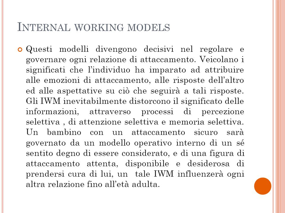 Internal working models