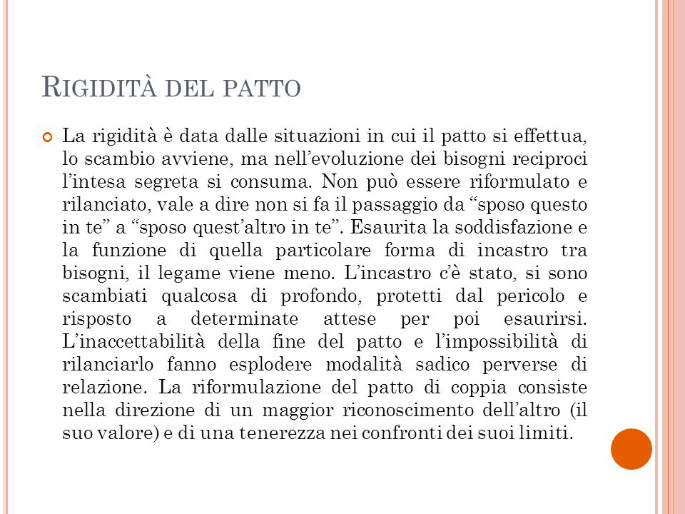 Rigidità del patto