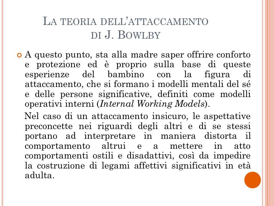 La teoria dell'attaccamento di J. Bowlby