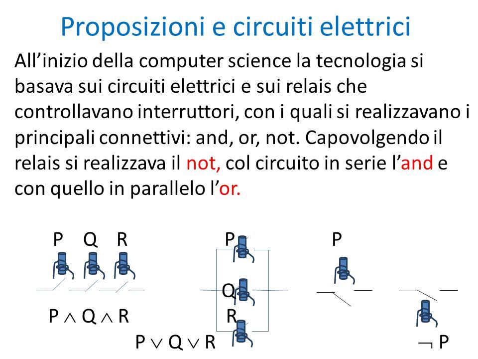 Proposizioni e circuiti elettrici