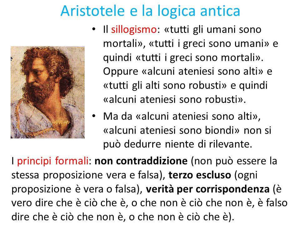 Aristotele e la logica antica