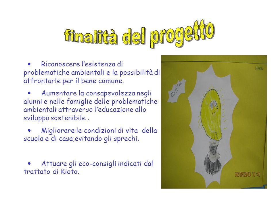 finalità del progetto · Riconoscere l'esistenza di problematiche ambientali e la possibilità di affrontarle per il bene comune.