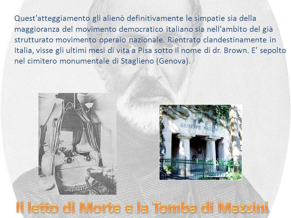 Il letto di Morte e la Tomba di Mazzini