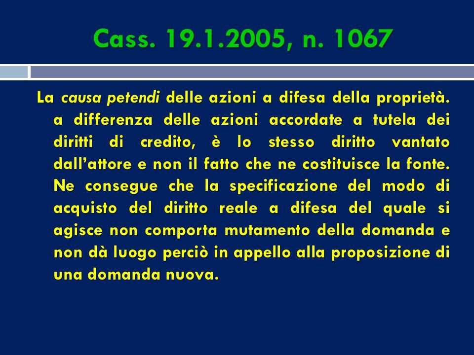 Cass. 19.1.2005, n. 1067