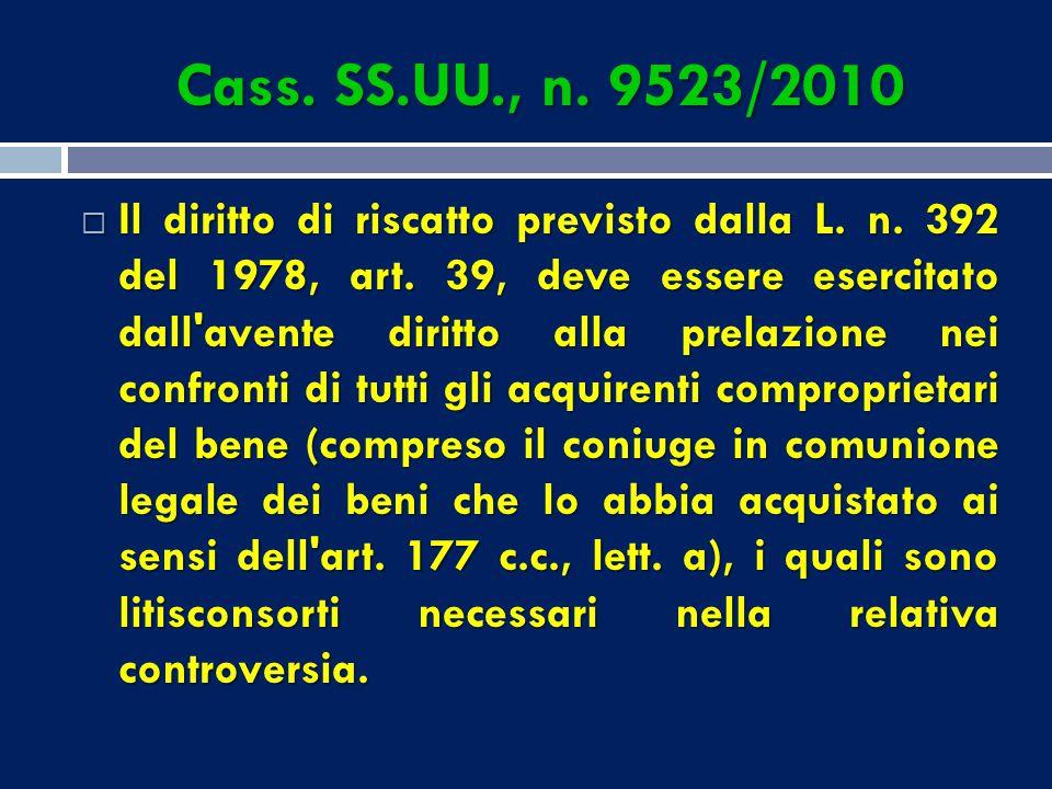 Cass. SS.UU., n. 9523/2010