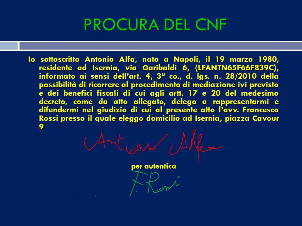PROCURA DEL CNF