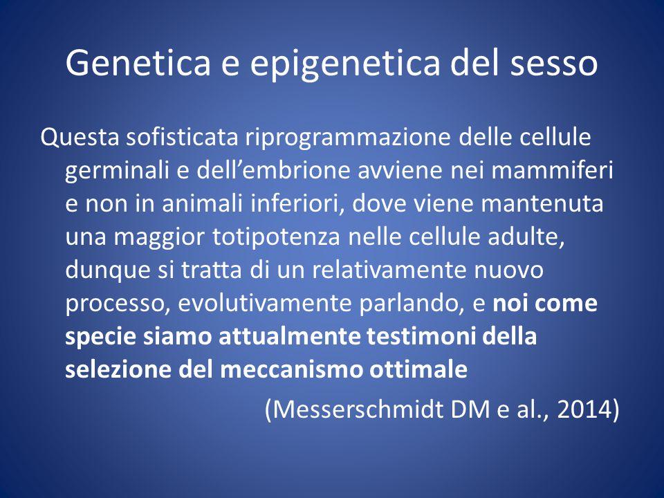 Genetica e epigenetica del sesso