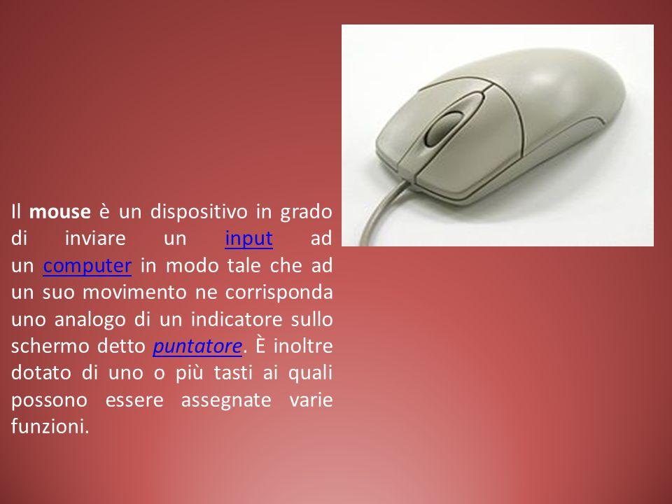 Il mouse è un dispositivo in grado di inviare un input ad un computer in modo tale che ad un suo movimento ne corrisponda uno analogo di un indicatore sullo schermo detto puntatore.