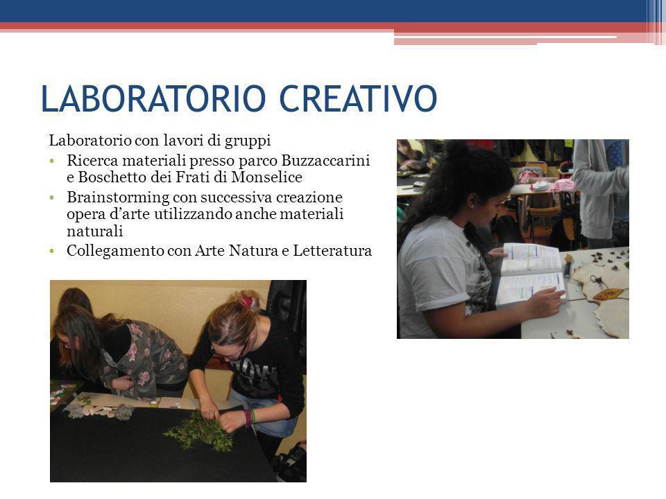LABORATORIO CREATIVO Laboratorio con lavori di gruppi