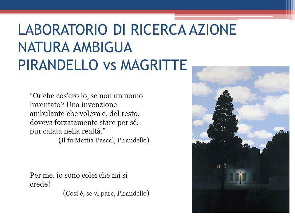 LABORATORIO DI RICERCA AZIONE NATURA AMBIGUA PIRANDELLO vs MAGRITTE